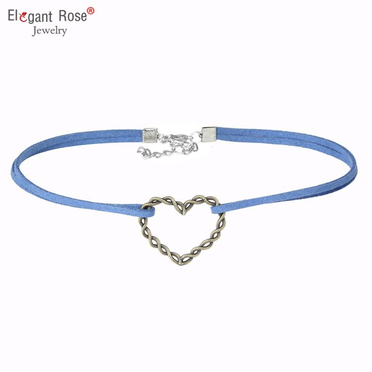 Velvet Double Choker Necklace with Heart Pendant | Buy Purple Velvet Chokers online at lowest price |Women Jewelry | Worldwide Shipping!