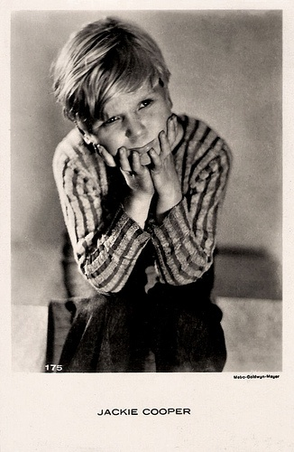 "Jackie Cooper - he was in the original ""Little Rascals""!!!!"