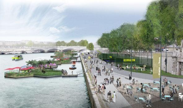 Les futurs aménagements des voies sur berges à Paris