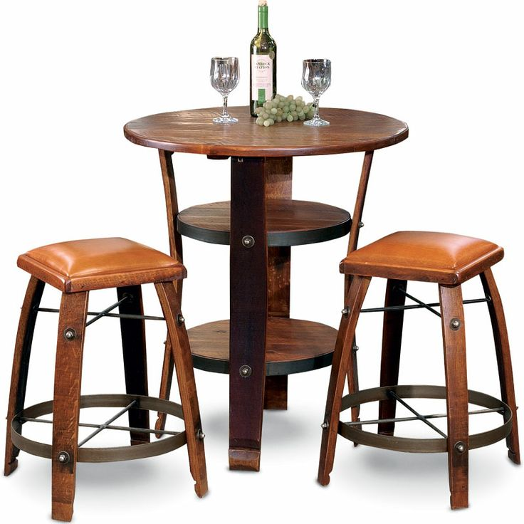 bistro table napa set nc rustic source outdoor furniture bar side r