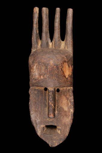 anthropomorphic mask Geography: Africa - West Africa - Mali - - Niger Bend Culture: Africa - Bamana
