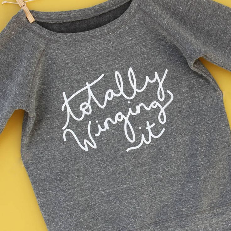 Totally Winging It Slouch Neck Sweater