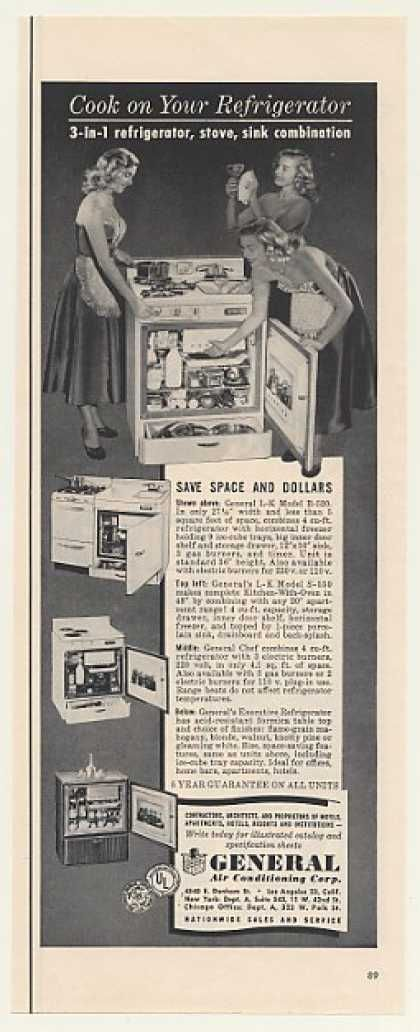 General 3-in-1 Refrigerator Stove Sink Combo (1953)