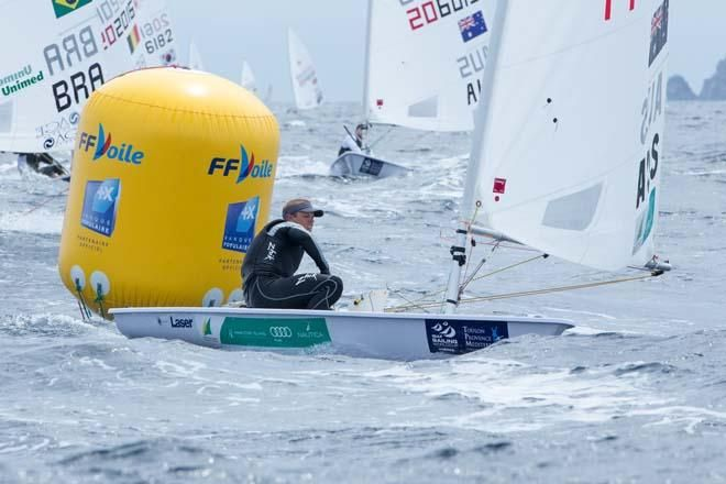Sail-World.com : ISAF Sailing World Cup Hyeres - Aussie crews in medal race position. Australian Laser fleet leader Tom Burton (NSW) and Andy Maloney (NZL) are divided by a single point in the Laser as the 62-boat gold fleet concluded racing at 20:01 local time.