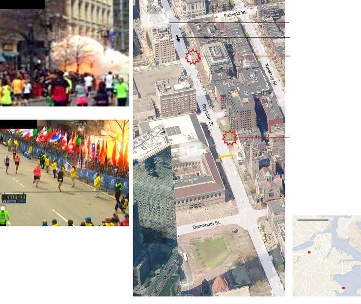 Site of the #BostonMarathon #terrorattack Explosions - Map - NYTimes.com