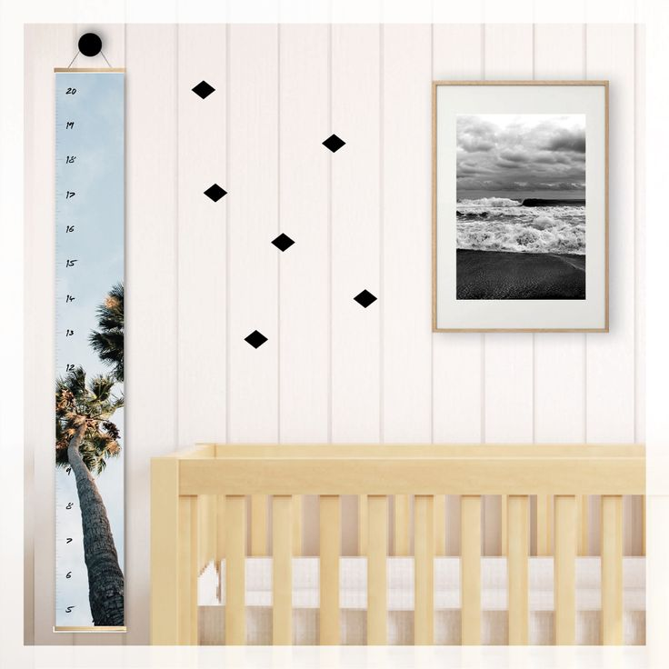 palm beach sky height growth chart,   scandi, modern, photography, scandinavian, beach, boho, canvas, wall decor, home decor, interior styling, home styling, kids bedroom, kids room, boho home, palm trees, palm springs