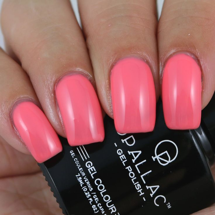 Opallac Gel Polish Life's A Peach swatched by Olivia Jade Nails
