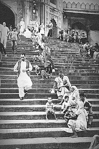 On the stairs of Jame Masjid @ Delhi, India.