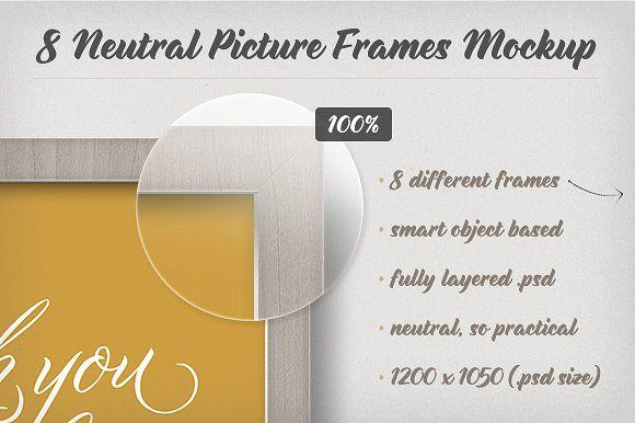 8 Neutral Picture Frames Mockup by Frisk Shop on @creativemarket