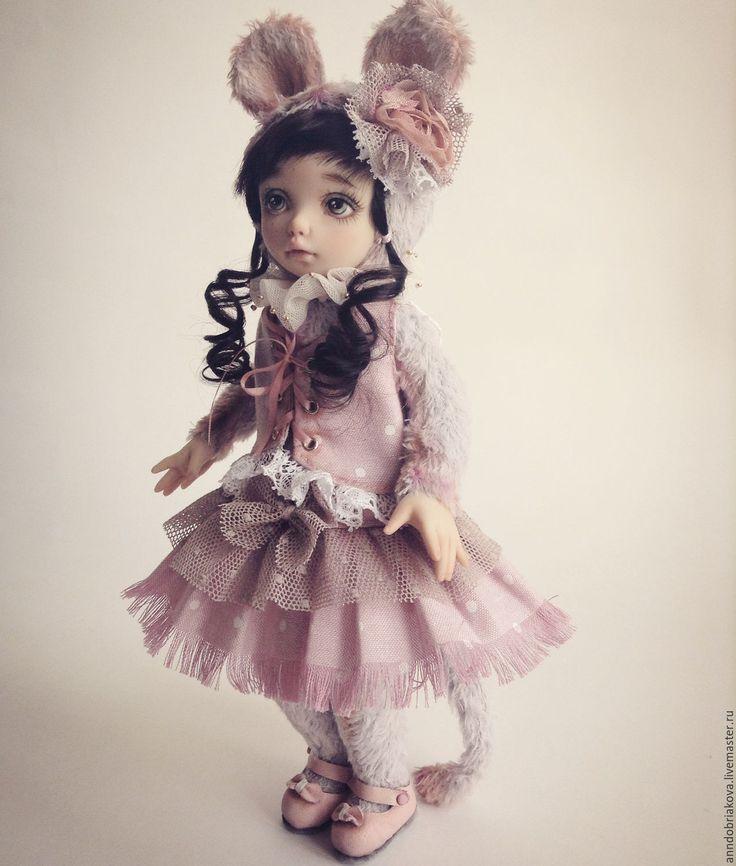 Купить Азарина. Тедди-долл мышка. - тедди-долл, тедди долл, кукла, авторская кукла