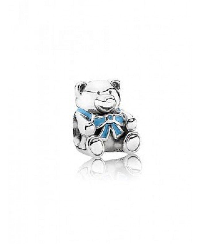Cheap Pandora Silver Charms Blue Teddy Bear Cyber Monday On Sale
