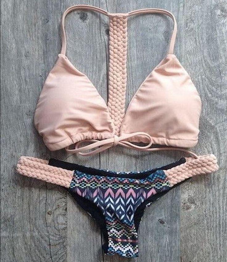 Encontrar Más Bikinis Set Información acerca de Estilo étnico barato crochet…