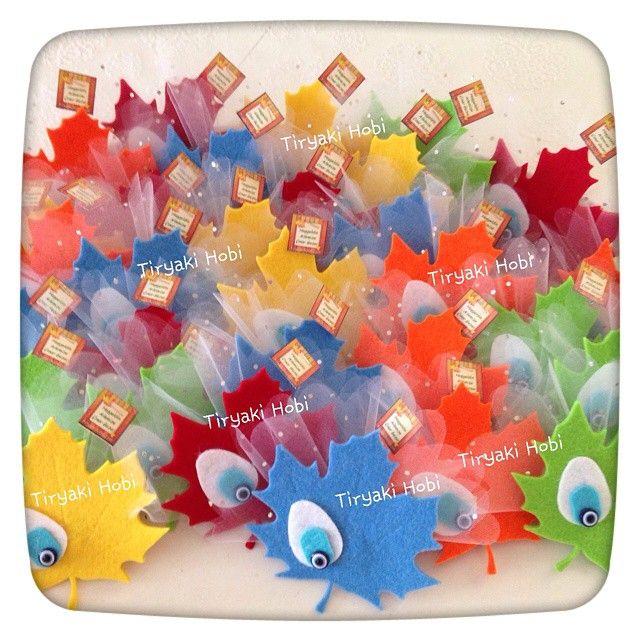♥ Tiryaki Hobi ♥: Keçe bebek şekeri / doğumgünü magneti - ÇINAR ----- felt maples