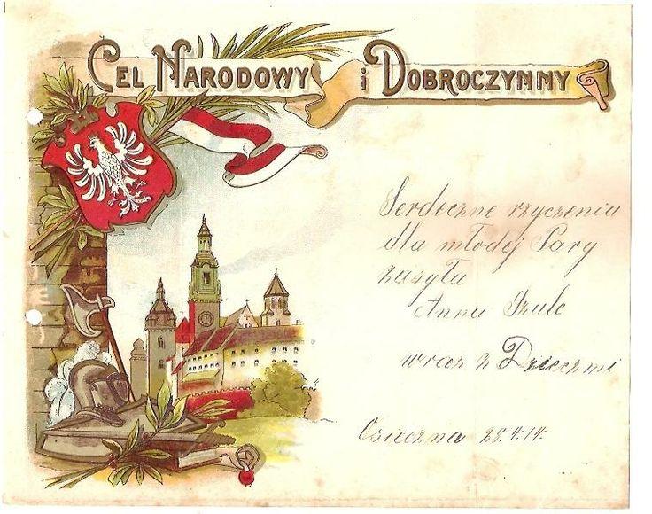 TELEGRAM PATRIOTYCZNY LITO   WAWEL 1914