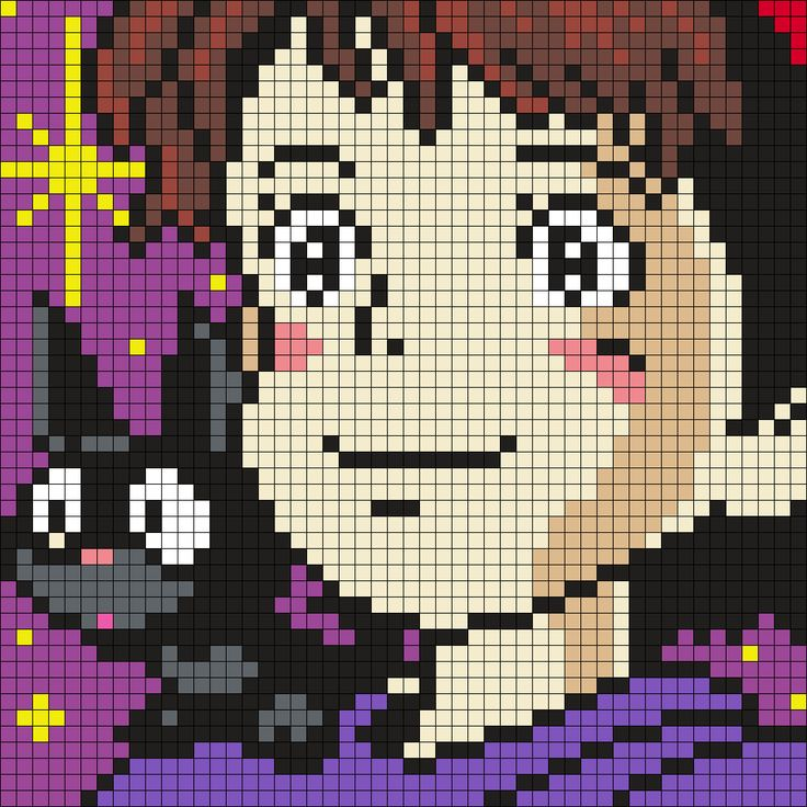 Kiki And Jiji - Kiki's Delivery Service Perler Bead Pattern
