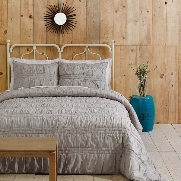 The gorgeous set is a picture of transitional comfort with alternating rows of shirring and ruching. Claude is hand-quilted and ever-so-soft cotton voile with polyester batting for a luxurious feel all year round. Includes 1 standard sham.