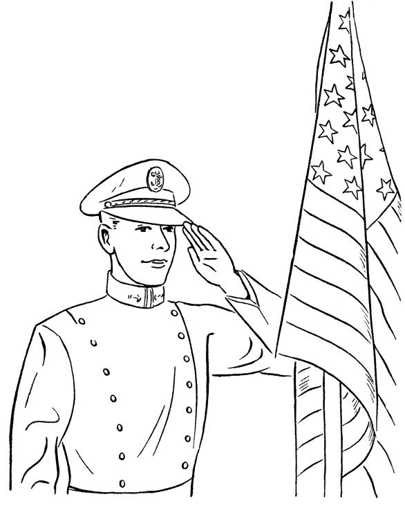 Memorial Remembrance Day Coloring Page