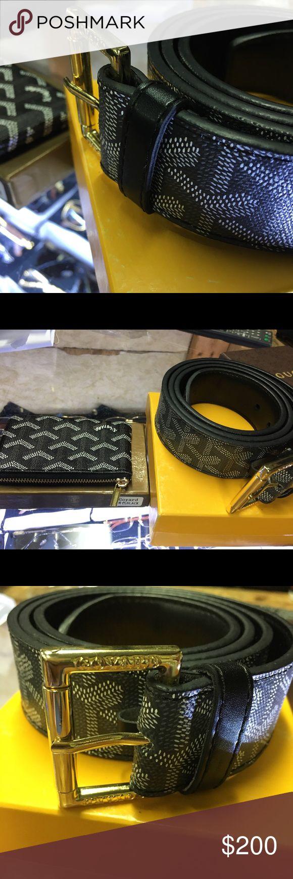 Goyard Belt and Card Holder Brand new Goyard belt and card holder. Size 36 Goyard Accessories Belts