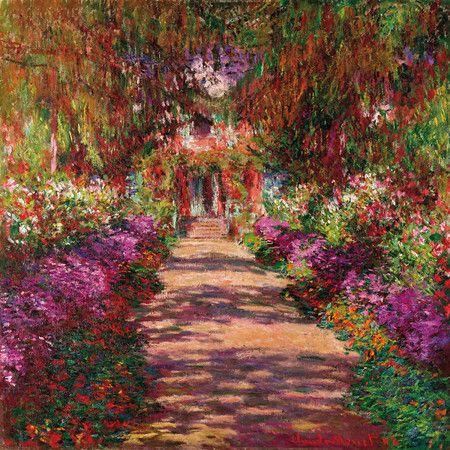 Holen Sie sich den Charme der alten Meister nach Hause: Diese Wandkunst ziert ein Motiv von Monet und sorgt für einen naturverbundenen Blickfang in Ihrem In...