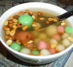wedang ronde jahe -(lestari podomoro): wedang ronde taman palem lestari