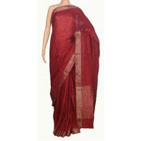 Best suited for formal occasions as much as for casual parties, Indian linen sarees are most preferred during summers due to their aesthetic appeal and comfort factor. The length of this Saree is 6.4 meter( blouse included) Width - 44 inches Wash Care- Dry Wash only.