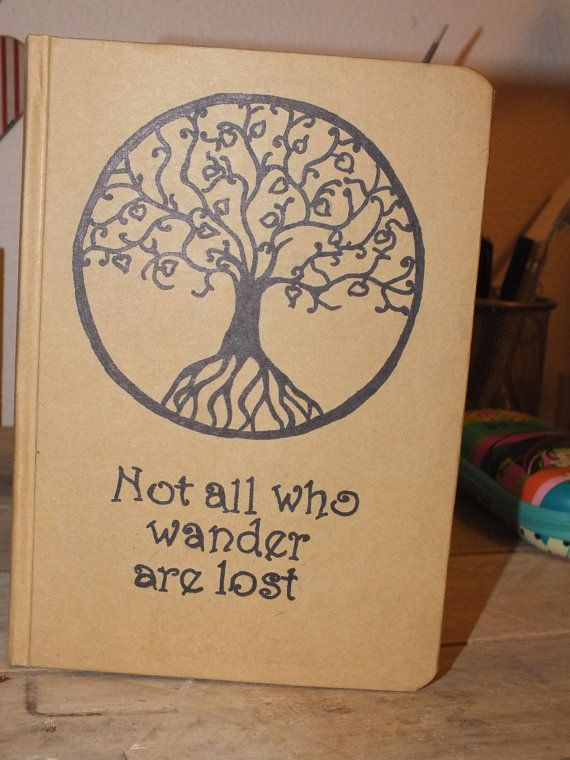 LOTR Inspired A5 notebook by MoonbeamsCuriosities on Etsy, £6.00