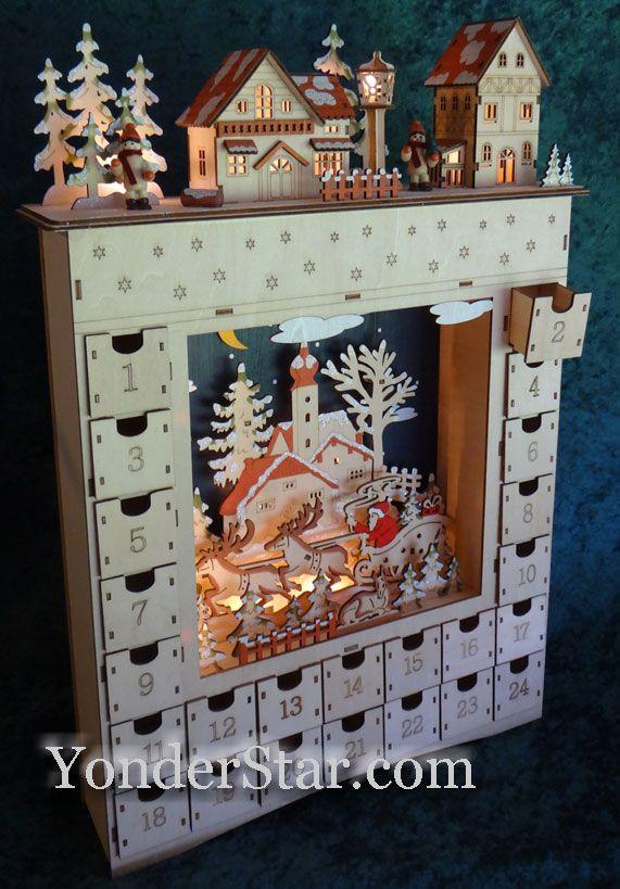lighted wooden advent calendar pre order 2019. Black Bedroom Furniture Sets. Home Design Ideas