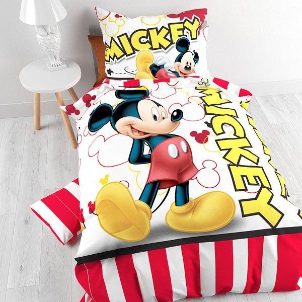 Mickey mouse sengetøj i 100% bomuld fra Disney