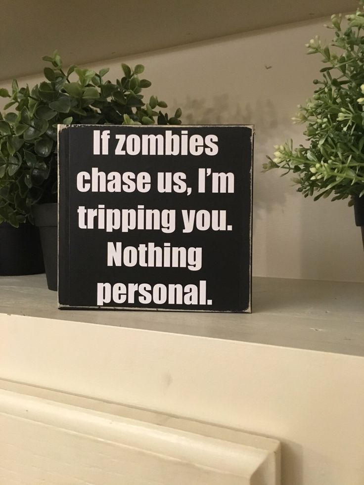 Zombie/zombie sign/The Walking Dead/zombie desktop sign/ funny - zombie halloween decorations