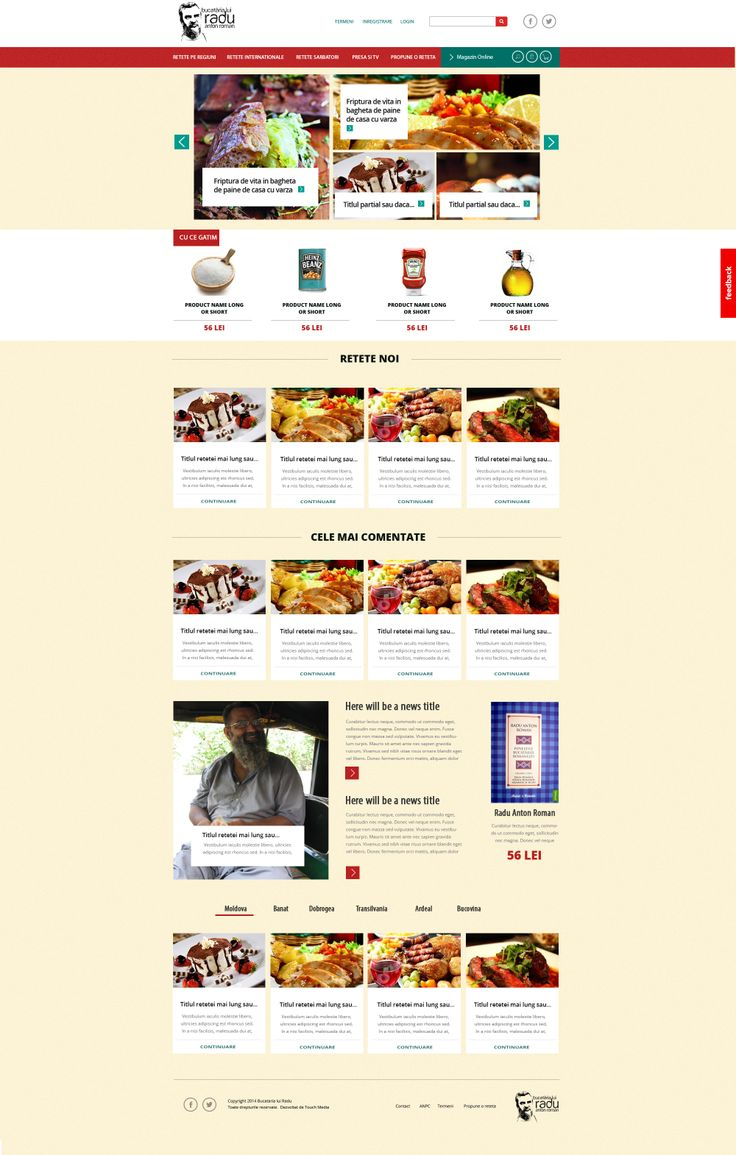 Cooking and Recipes Website