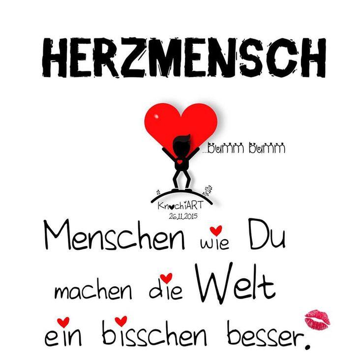 ❤️ #HERZMENSCH … #Menschen wie #Du machen die #Welt ein bisschen #besser.  Bist Du auch ein Herzmensch oder kennst zumindest einen !?  Dann erwähne ihn hier und mache ihm/ihr eine kleine #Freude und sag mal #DANKE ✨ schön das es dich gibt ...