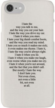 10 Things I Hate About You iPhone 7 Cases