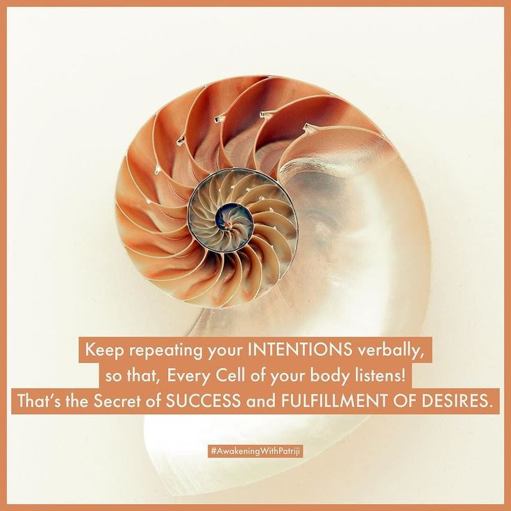 Keep repeating your INTENTIONS verbally so that Every Cell of your body listens! Thats the Secret of SUCCESS and FULFILLMENT OF DESIRES. #AwakeningWithPatriji #SpiritualScience #BreathMeditation #BeAMaster #NewAge #SpiritualLife #LifeQuotes #PSSMovement #PyramidMeditation #SpiritualQuotes #Patriji