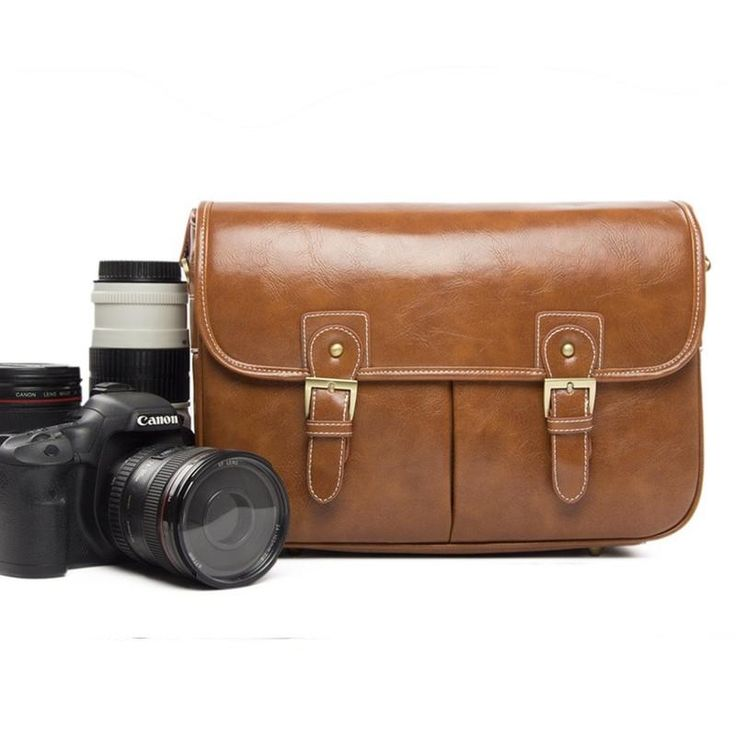 Waterproof Genuine leather Camera Bag Messenger Bag Fit DSLR/SLR For Canon Sony Nikon Canon Olympus