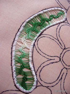 MACRAME' RUMENO - POINT LACE: NUOVO PUNTO di RICAMO ad AGO tutoriales lindos diseños