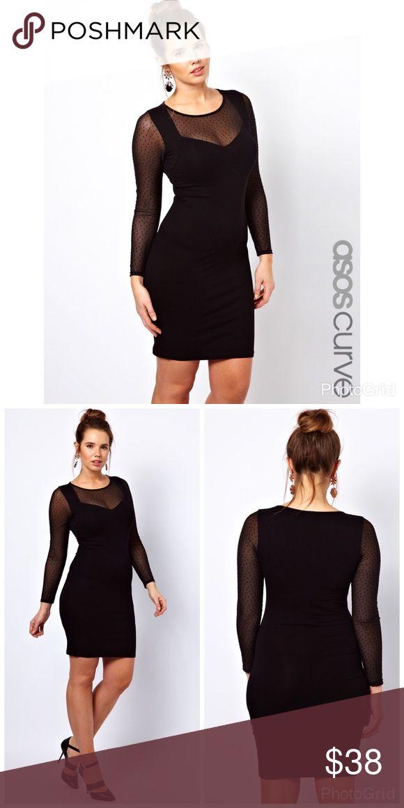 ASOS curve bodycon dress in dobby mesh BNWT ASOS curve bodycon dress in dobby mesh BNWT US 16 ASOS Curve Dresses