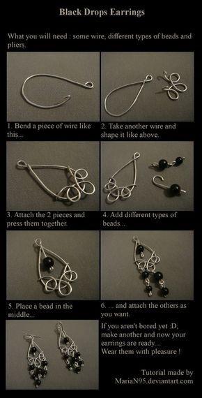 Earring Tutorial wire-jewelry