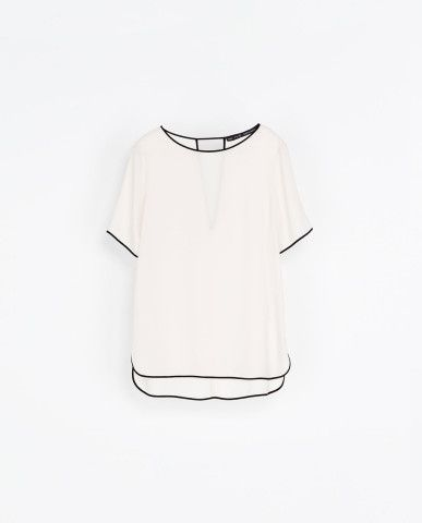 BLOUSE WITH CONTRASTING EDGING | ZARA United States