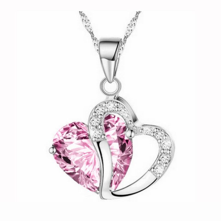 LaDiva in Bottle for Women, Crystal with Heart Pendant Love Necklace