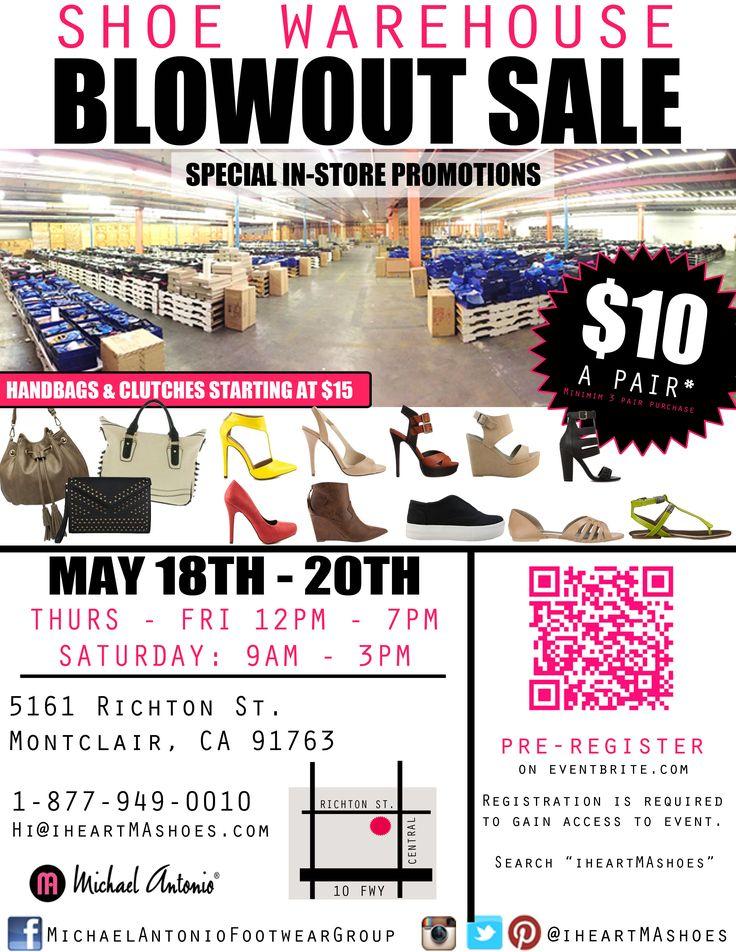 Shoe Warehouse Blowout Sale