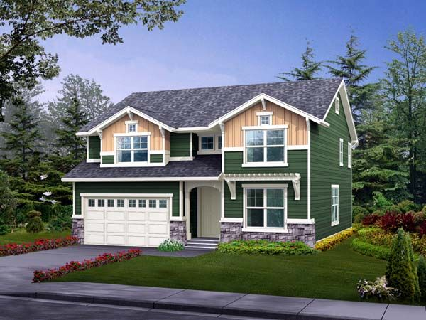 House Plan 87433 | Craftsman Plan with 2590 Sq. Ft., 4 Bedrooms, 3 Bathrooms, 2 Car Garage
