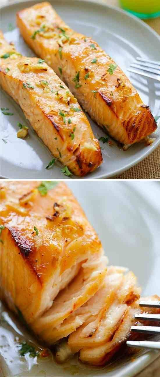 cool Honey Mustard Baked Salmon - baked, blackpepper, healthy, honey, mustard, recipe...