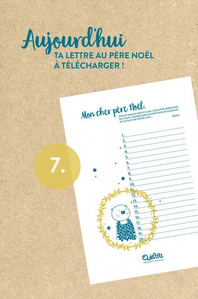 Blog - Ouistiti DIY Lettre au père noël, free design, téléchargement gratuit
