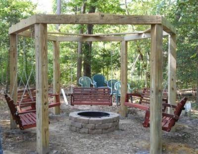 Porch Swings Fire Pit Circle - Porch Swings - Patio Swings - Outdoor Swings