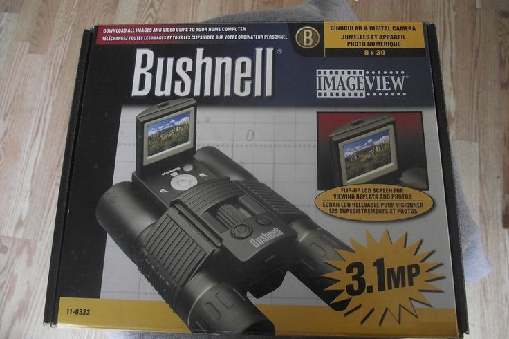Bushnell Binocular & Digital Camera. They work perfect but are very dusty / dirty. There is a stain / sticky spot in bottom of box and also on the one strap. The USB cable ends are white. See all photos.   eBay!