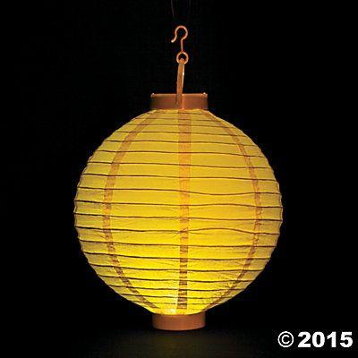 Yellow Light-Up Paper Lanterns