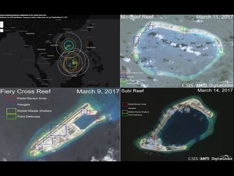 Full Militarization of China nearly complete in Subi, Mischief and Fiery-Cross Reef in SCS - YouTube