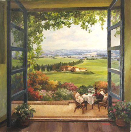 """Window on Tuscany"" ~ by Paul Guy Gantner"