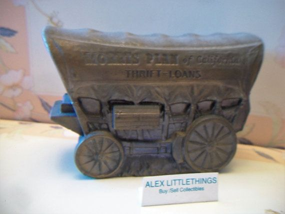 Vintage 1974 Chuck Wagon Piggy Bank Morris Plan of California