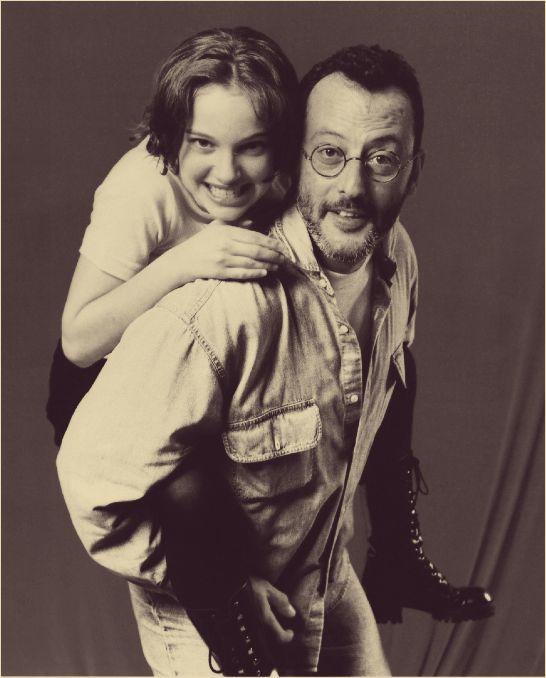 Natalie Portman and Jean Reno Dos grandes del cine, de largo trajinas r